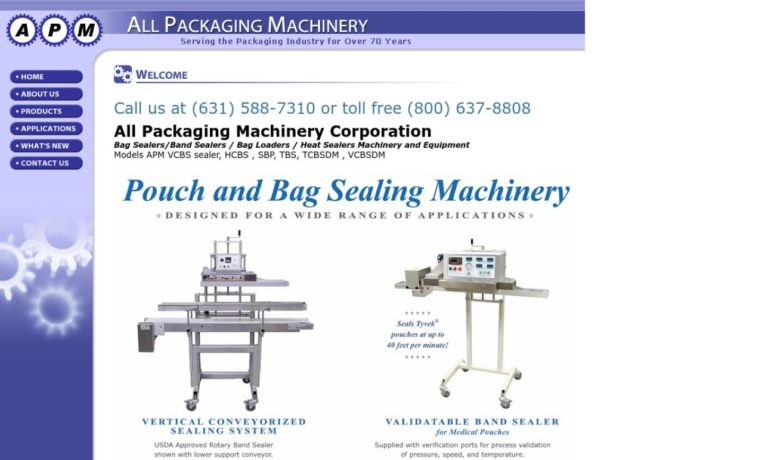 All Packaging Machinery and Supplies Corp.